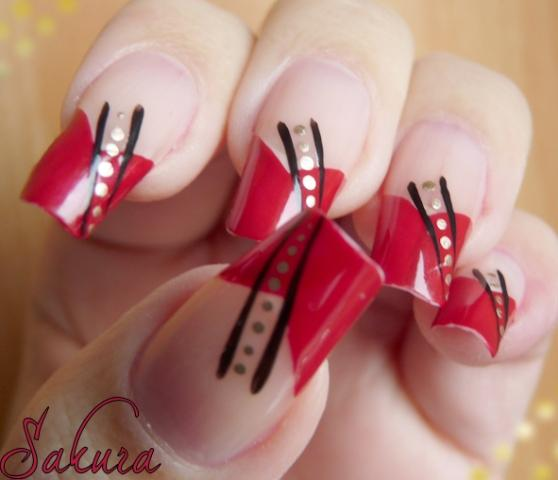 Latest Nail Art Designs Valentine's Day Collection 2013 For Girls