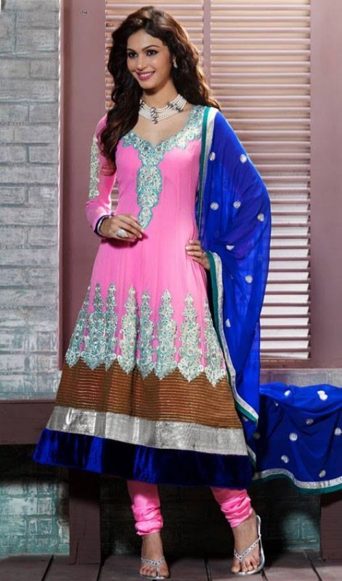 Original Women Latest Dress Material Of Churidar Suit Georgette Salwar Kameez R