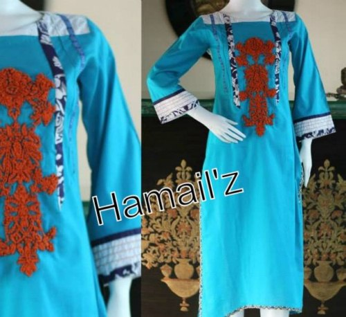 Hand embroidery party wear dress by hamailz boutique