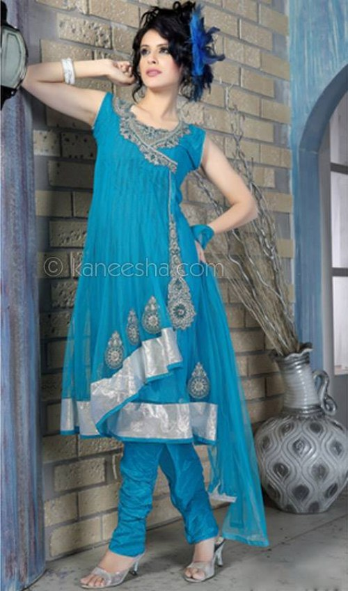 Innovative Indian Anarkali Umbrella Frocks 2013 Indian Womens New Latest Fashion