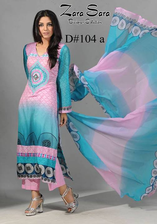 Zara sara eid collection 2013 by dawood lawns fashions pk for Bano market faisalabad dresses