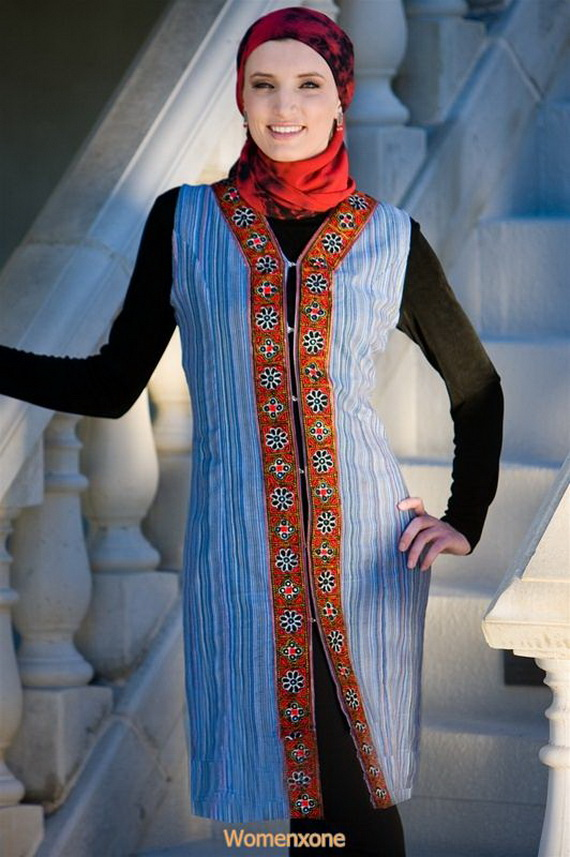 Islam new trendy long Dresses for women collection 2013-2014