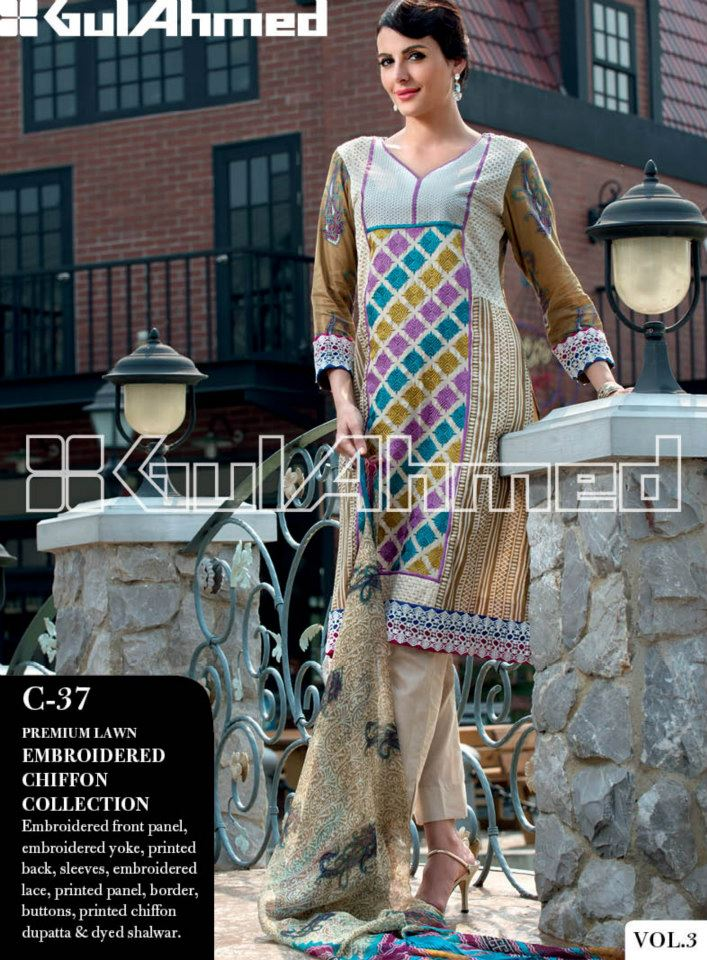 Gul Ahmed Lawn Collection Vol 3 (1)