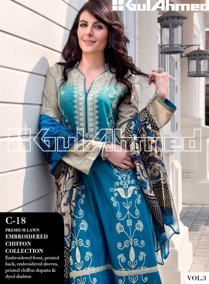 Gul Ahmed Lawn Collection Vol 3 (3)