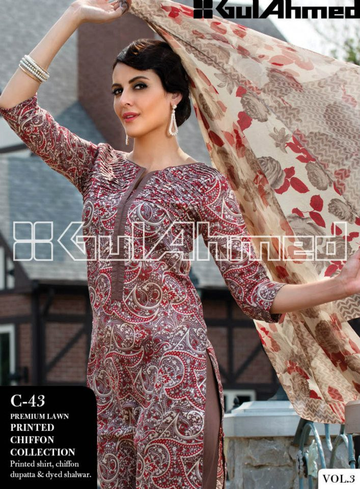 Gul Ahmed Lawn Collection Vol 3 (8)