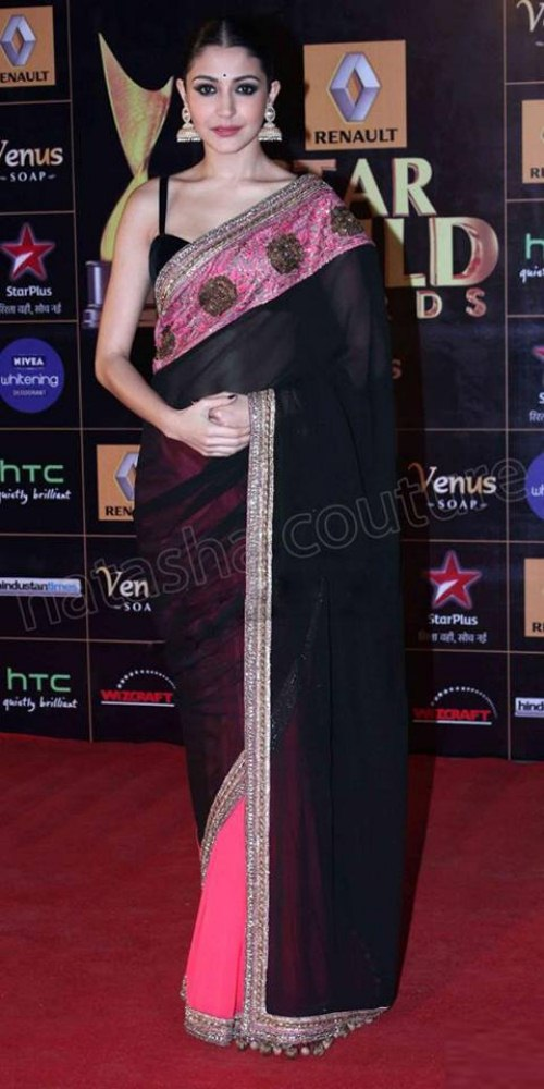 Bollywood actresses wearing saree dress (3)