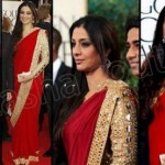 Bollywood actresses wearing saree dress (1)