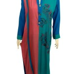 Grapes v neck multi print kurta collection