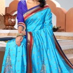 Indian Stylish saree dress for girls (4)