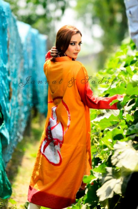 Jannat and sadaf New Summer Collection 2013 (2)