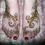 Arabic Foot Mehndi Design