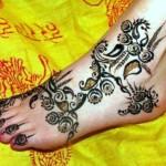 Arabic Feet Mehndi Designs