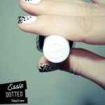 Black and White dotted Nails art for women (6)