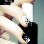 Black and White dotted Nails art for women (1)