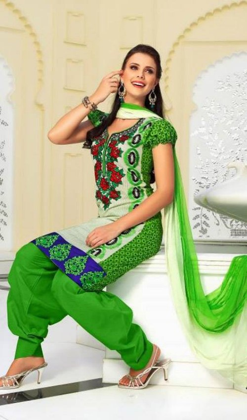 Indian Classy Churidar Suits For women 2013 (5)