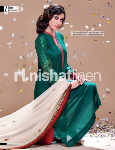 Nishat linen Beautiful eid collection 2013 for women