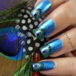 Peacock birds nails art designs (3)