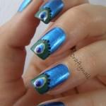Peacock birds nails art designs (4)
