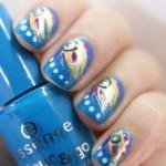 Peacock birds nails art designs (6)