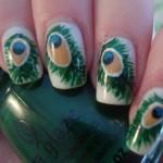 Peacock birds nails art designs (7)