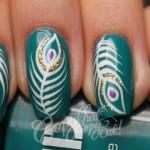 Peacock birds nails art designs (9)