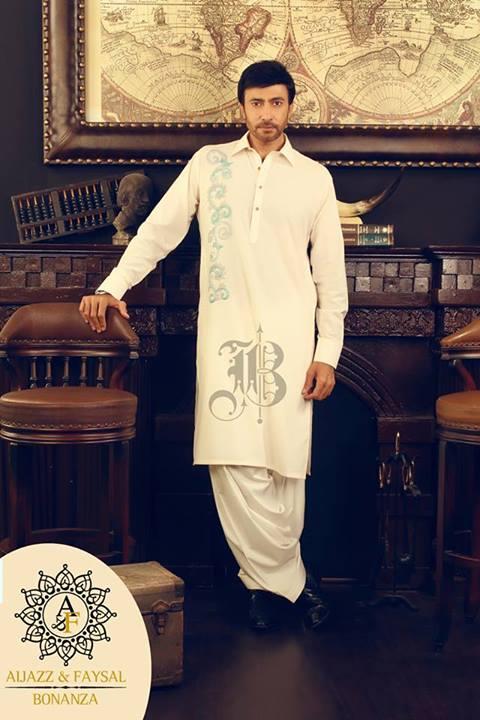 Bonanza Eid Kurta Men Wear Shalwar 2013 (2)