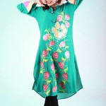 Eid Flower Print Kurta Collection 2013 by Grapes the brand