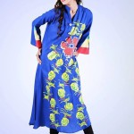 Eid Flower Print Kurta Collection 2013 by Grapes the brand (2)