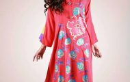 Eid Flower Print Kurta Collection 2013 by Grapes the brand (4)