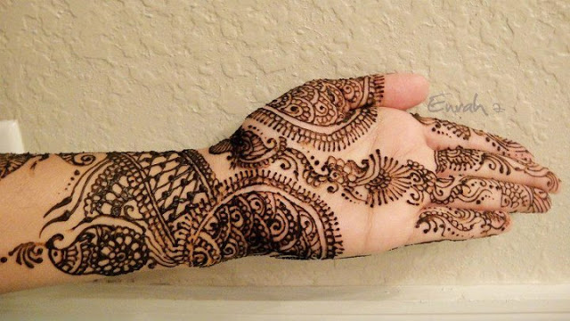 Eid Hand  Mehndi Design for girls 2013