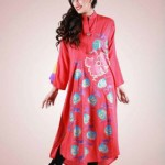 Grapes Flower Print kurta collection 2013-2014 for girls and women (8)