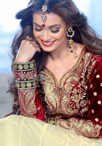 Diya Mirza Wedding Frock Collection by Natasha couture (11)