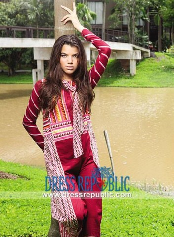 Dress Republic Girls Embroidered Lawn Prints (5)
