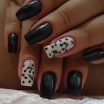 Fall 2013 Beautiful Black Style Nails Design Collection (1)