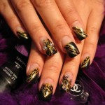 Fall 2013 Beautiful Black Style Nails Design Collection (2)