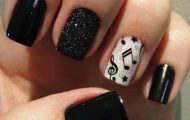 Fall 2013 Beautiful Black Style Nails Design Collection (4)