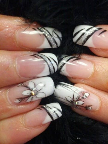 Fall 2013 Beautiful Black Style Nails Design Collection (5)