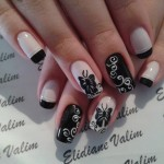 Fall 2013 Beautiful Black Style Nails Design Collection (7)