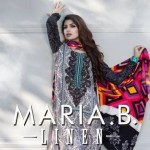 Maria B Latest Linen Winter Dress Collection 2013 (3)