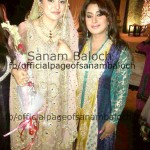 Tv Host Sanam Baloch Walima pictures