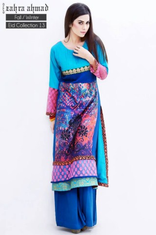 Zahra Ahmad FallWinter women Eid Collection 2013 (5)