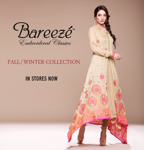 Bareeze Trendy Embroidered Women Winter Collection 2013-2014
