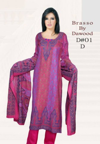 Dawood Textile Brasso Printed Outfits 2014 (8)