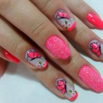 Floral Female Nails Designs Christmas New Year