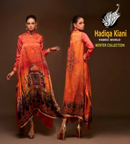 Hadiqa Kiyani Latest Winter Autumn Collection 2014 For Women (2)