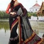 Indian Latest Black Saree Collection 2013-14 for Women (4)
