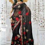 Indian Latest Black Saree Collection 2013-14 for Women (6)