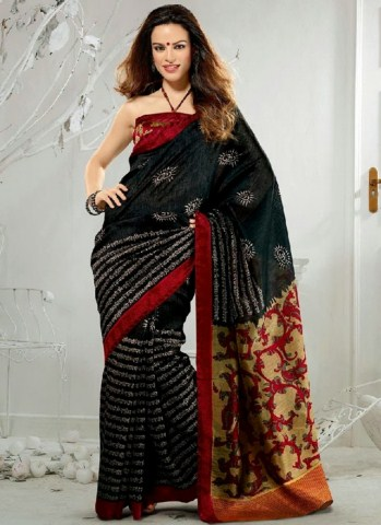 Indian Latest Black Saree Collection 2013-14 for Women (9)