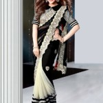 Indian Latest Black Saree Collection 2013-14 for Women (1)