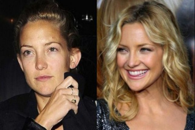 Kate Hudson with Makeup and With out Makeup